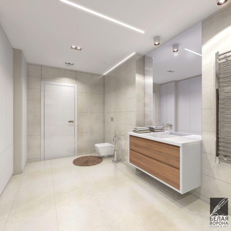 дизайн проект холла в современном интерьере
