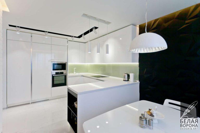 дизайн интерьер просторной квартиры в стиле хай-тек в современном интерьере