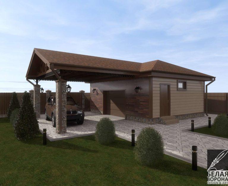 дизайн дизайн-проект экстерьера дачного дома из бруса