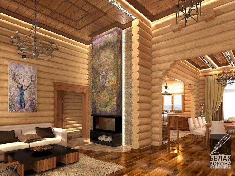 дизайн проект гостинной в современном интерьере