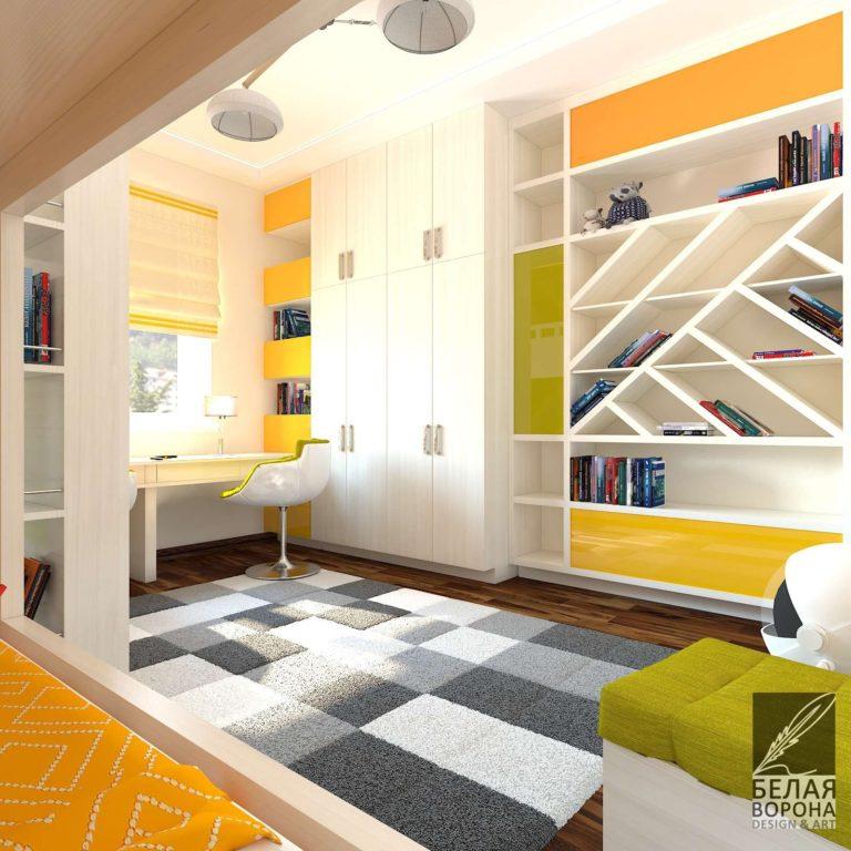Отделка спального помещения в светлых тонах. Интерьер спальни