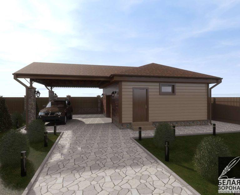 дизайн проект экстерьера дачного дома из бруса