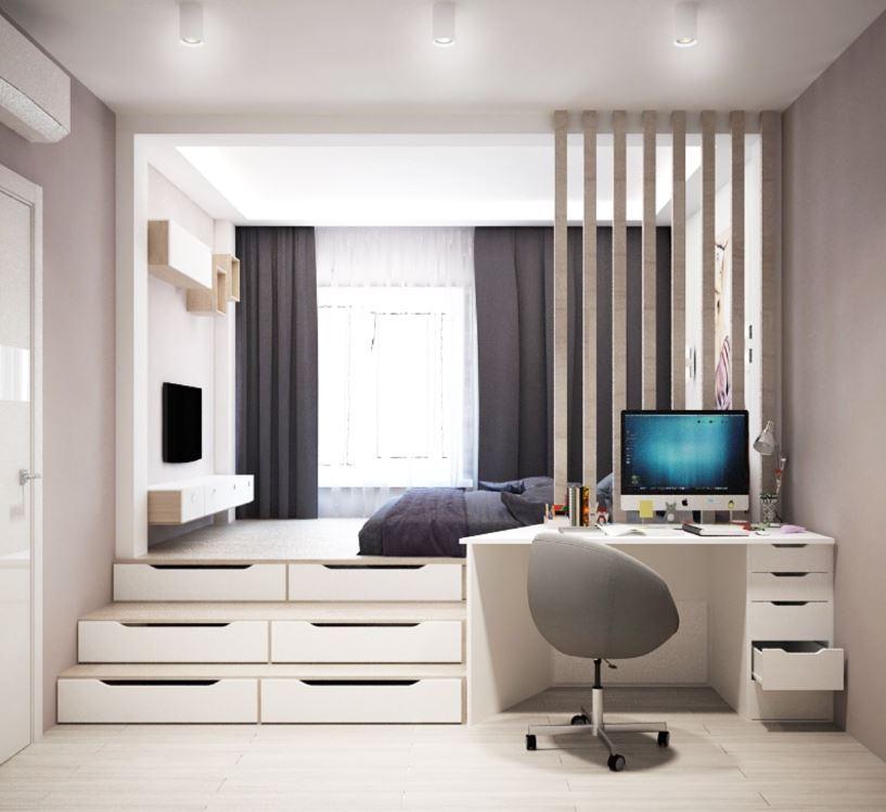 Современный интерьер в комнате школьника