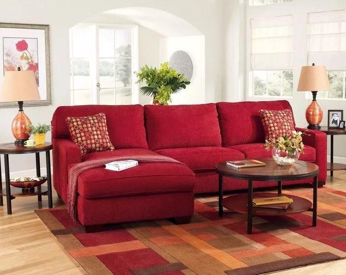 """Яркий цвет осени 2020 """"Samba""""яркая мебель в гостиную"""