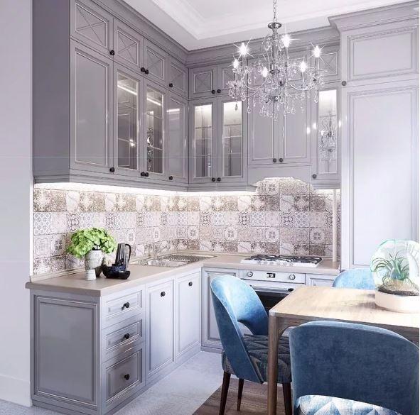 Нейтральный серый цвет в интерьере кухни