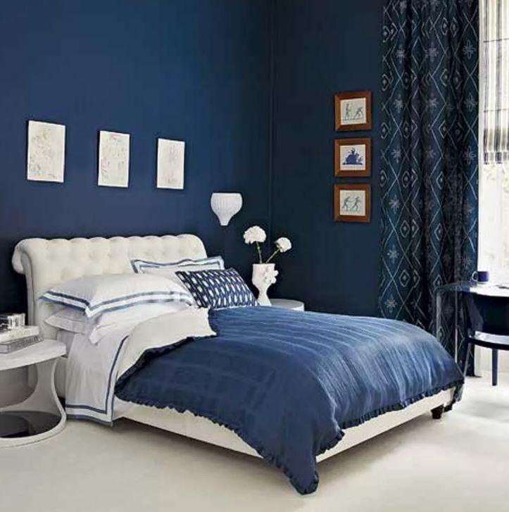Использование синего цвета в спальне Цвета осени 2020
