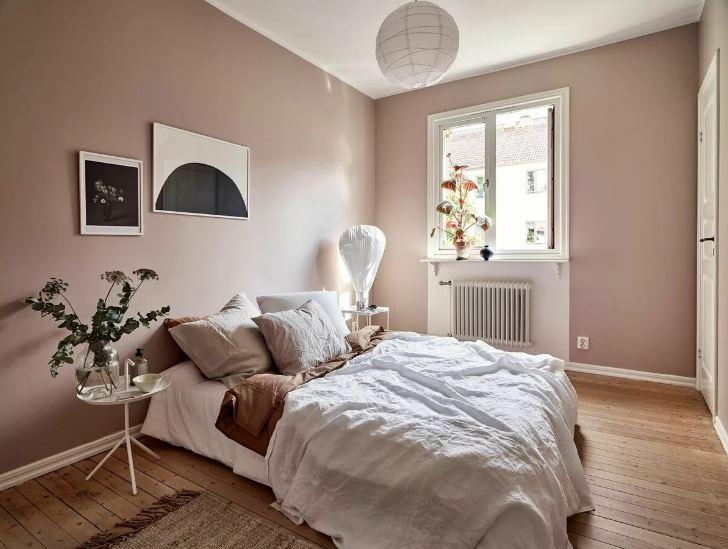 """""""Розовый загар в отделке стен в дневном освещении"""