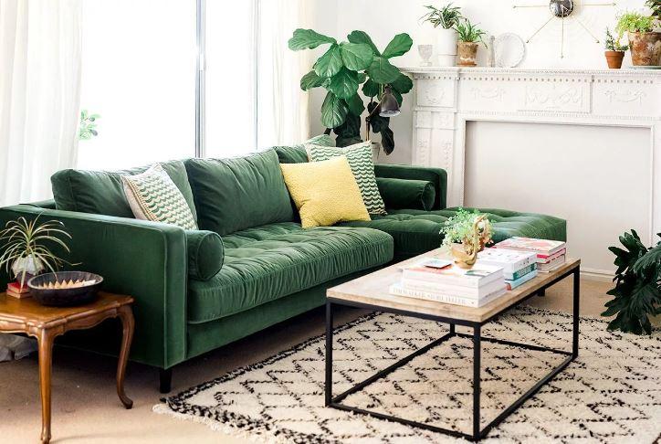 Ультрамариновый зелёный. Мебель ярких оттенков в интерьере