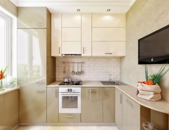 7 идей дизайн маленькой кухни