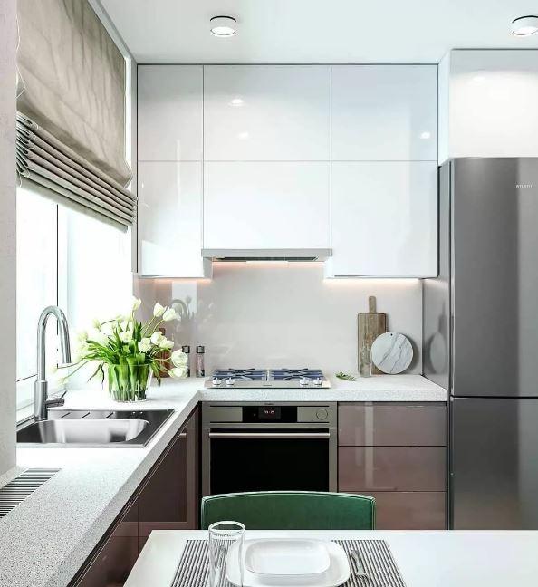 Дизайн интерьера небольшой современной кухни в интерьере