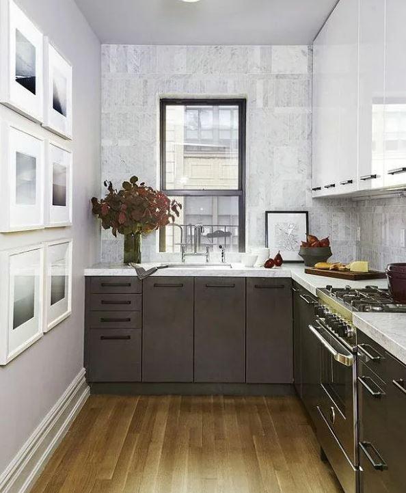 Кухня в контрастных тонах