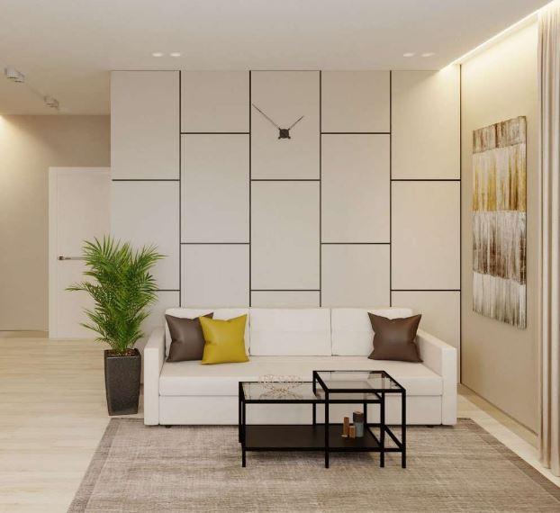 Современный интерьер гостиной  в стиле авангард