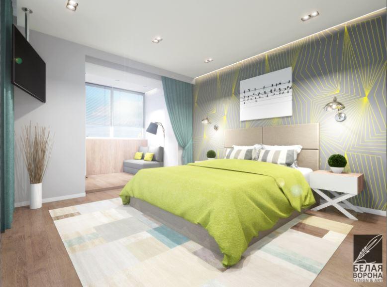 Освещение в современной спальне