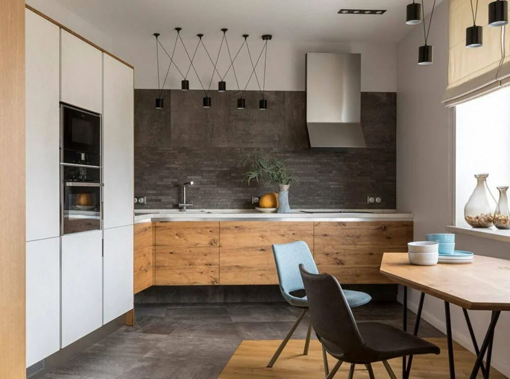контраст в современном интерьере тёмная квартира