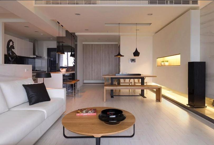 стильный современный дизайнерский интерьер
