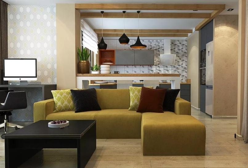 Способ зонирования пространства мебелировкой в современном интерьере