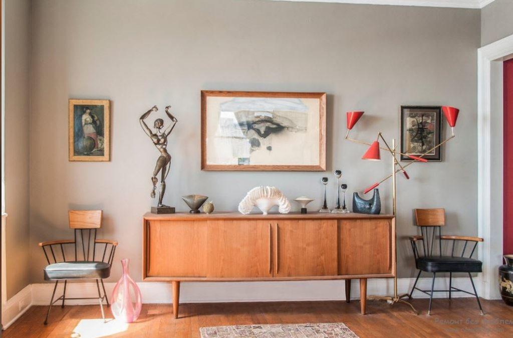 Мебель в стиле mid-century modern. Антикварная мебель в современном интерьере.