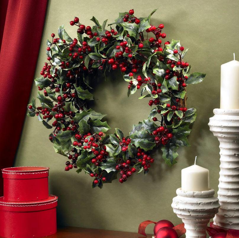 Ветка омелы как замена ели в качестве новогоднего украшения