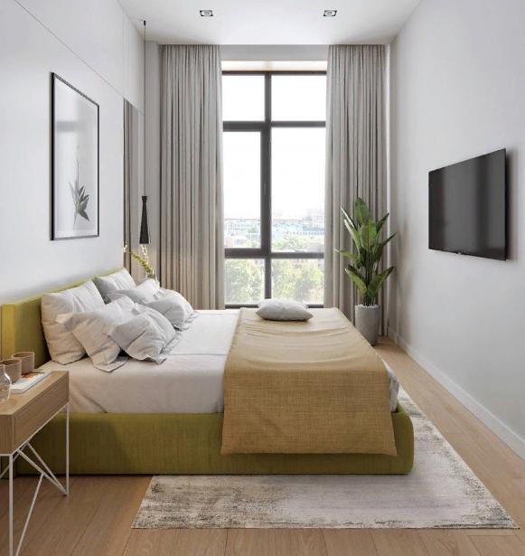 Современный интерьер спальни в современном стиле. Спальня в природной цветовой гамме