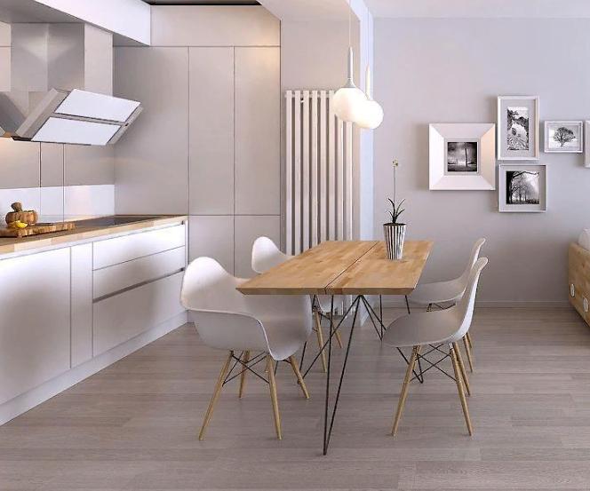 стиль минимализм в пространстве столовой зоны