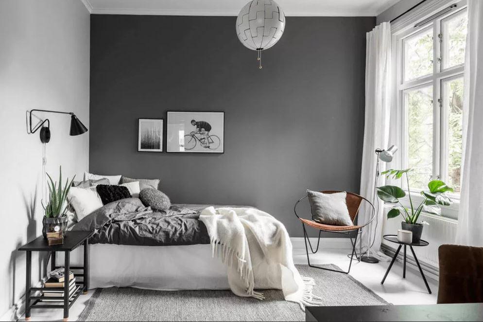 Бело- чёрный интерьер. Использование контрастных цветов в интерьере спальни