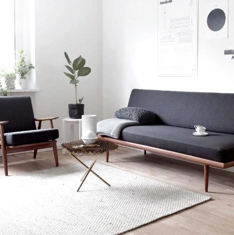 минималистичный интерьер в современной гостиной
