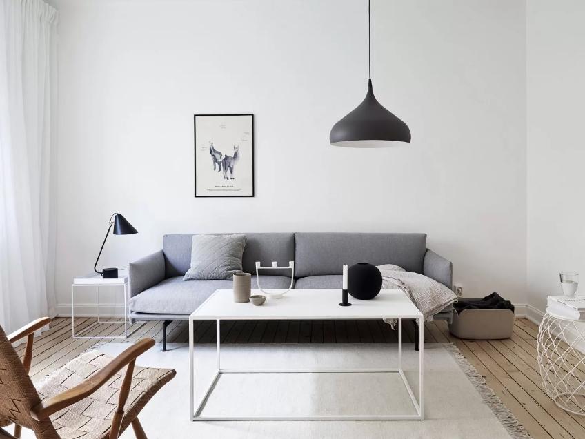 Современный минималистичный интерьер в гостиной