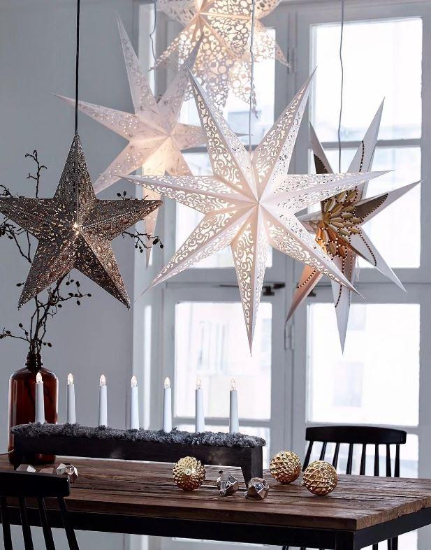 Декоративные свечи и звёзды, декор 2021