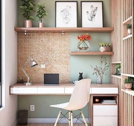 Оформление уютного рабочего пространства в помещении