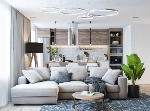 современный тренд- совместить кухню и гостиную.  стильное решение для современного жилья