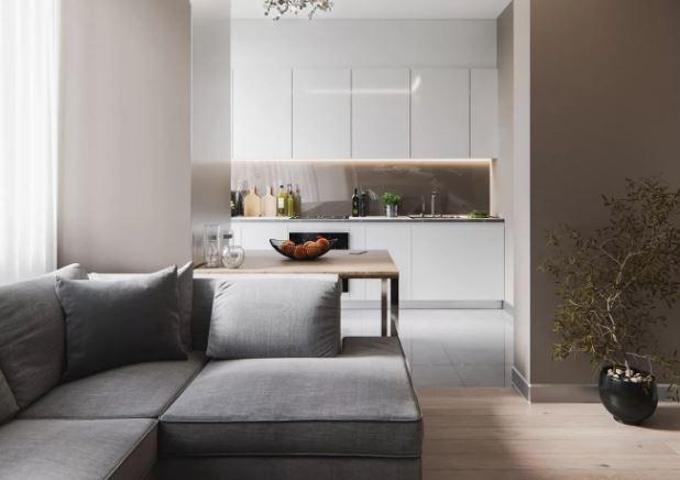 несущие стены в пространствн совмещения кухни и гостиной