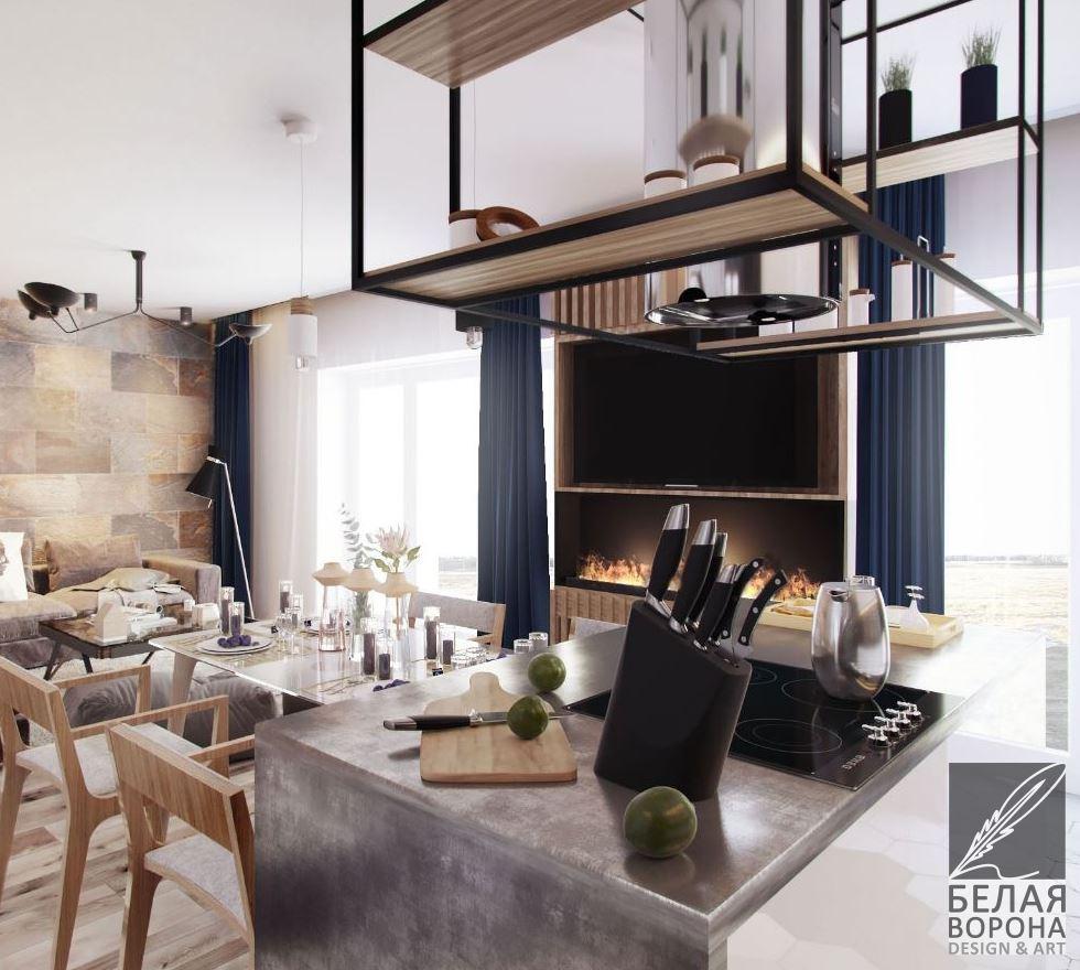 вытяжка совместить кухню и гостиную. устранение запахов