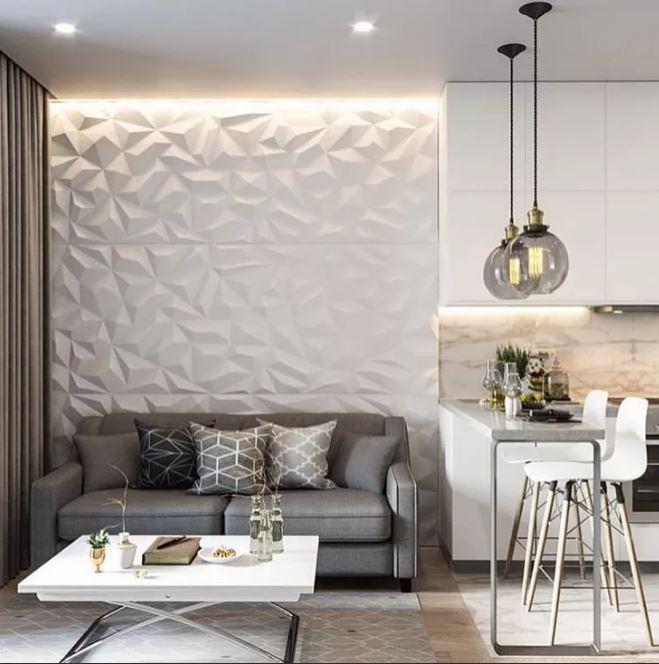 пример напольного покрытия при совмещении кухни и гостиной