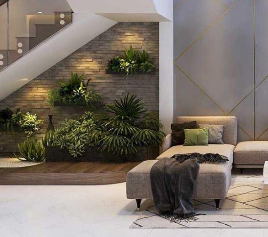 современные интерьеры с растениями