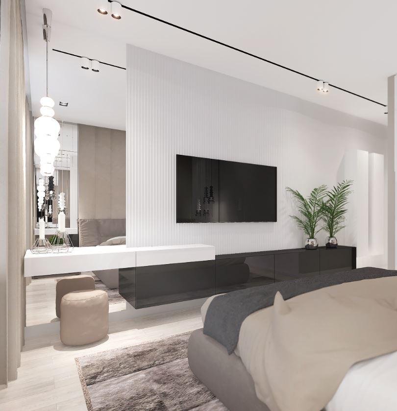 нейтральные цвета в интерьере спальни