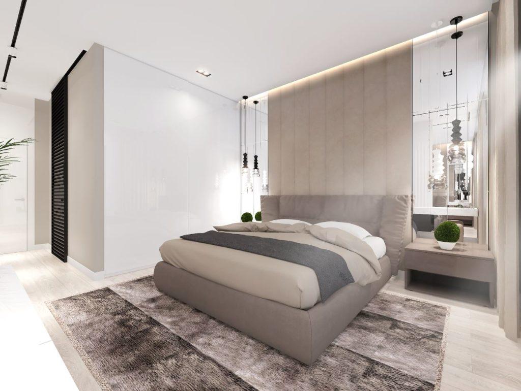 спальня с использованием в отделке бежевых оттенков базовые цвета в интерьере