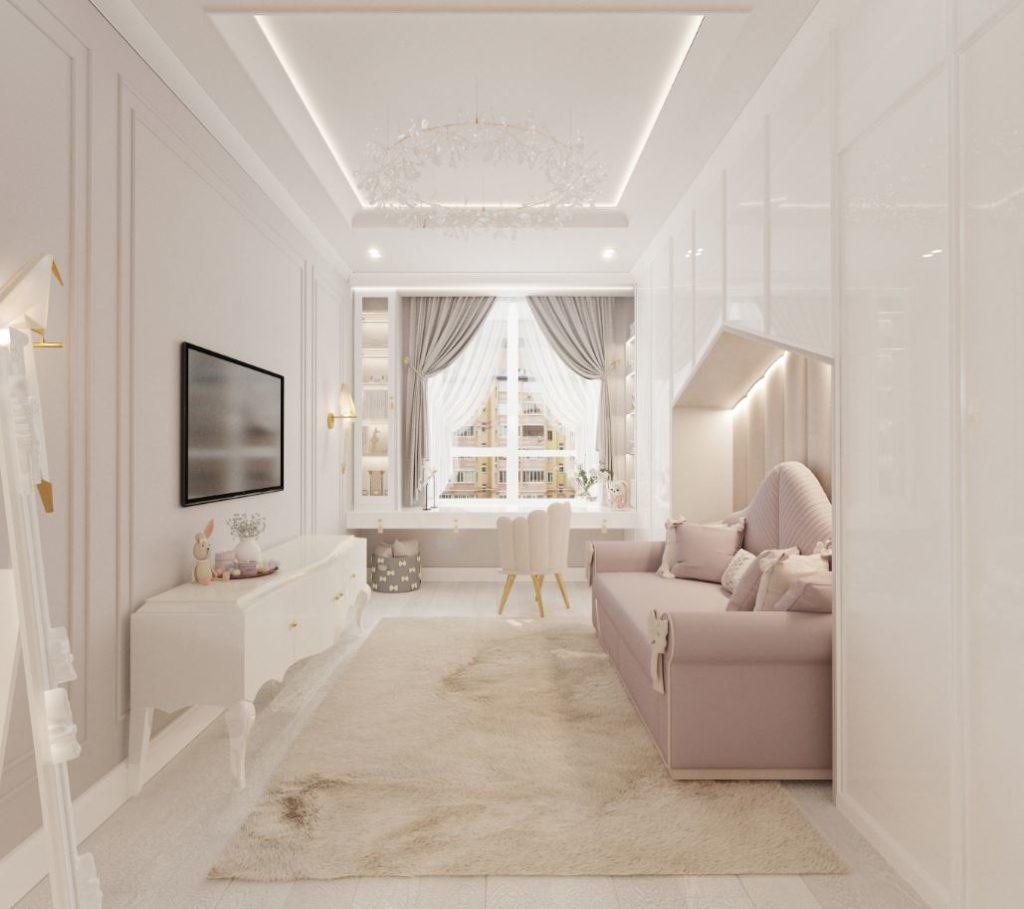 интерьер детской комнаты в современном стиле с элементами стиля неоклассика